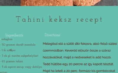 Tahinis egészséges vegán keksz recept! (Gluténmentes/wfpb)